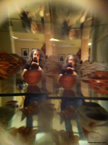 Duplicated Self Portrait in Mirror with Pottery Copyright
