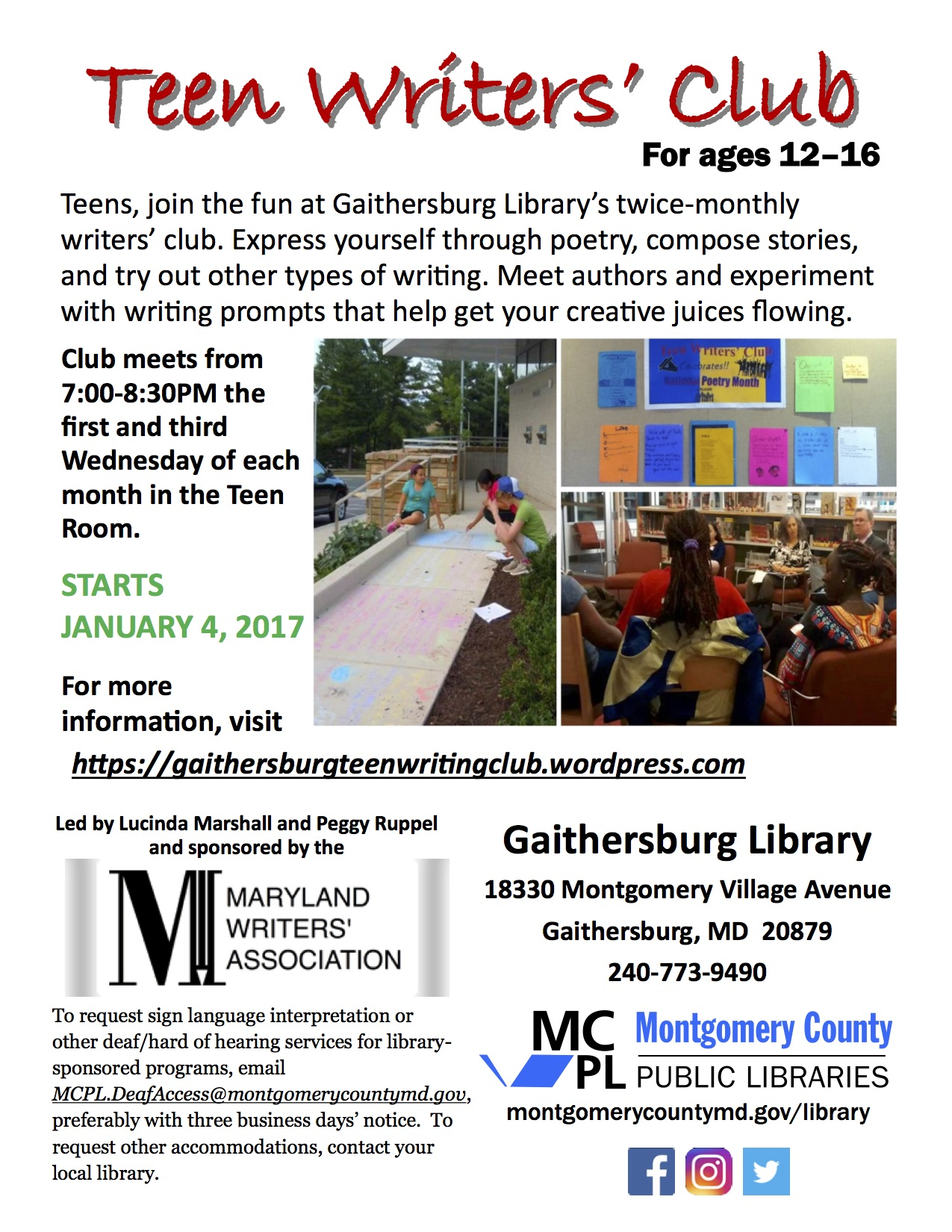 creative writing club flyer : dr bylenok, who is a creative writing professor, will be  writing  center workshops (endorsed by the elc club): writing-center-flyer-f16.